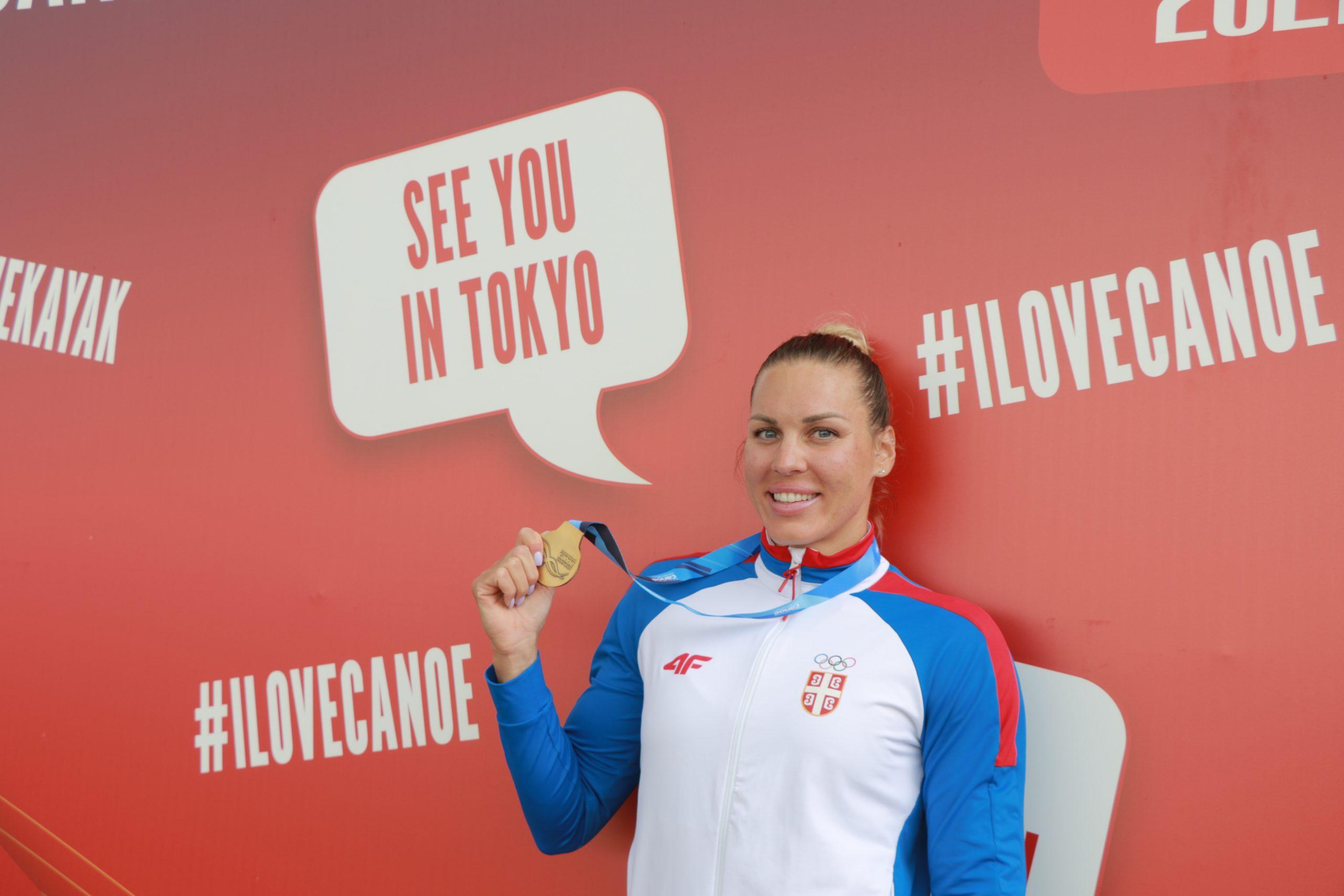 Milica Novaković zlatna medalja